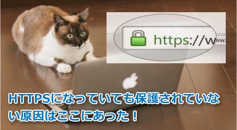 HTTPSなのに保護されていない原因